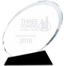 "Ovate Crystal Award, Small, 5-5/8"""