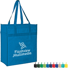 Deluxe Heavy Duty Non-Woven Market Tote with Poly Board Insert