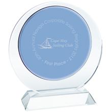 """Duo Circle Crystal Award, 6-3/4"""""""