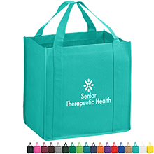 Heavy Duty Non-Woven Grocery Tote Bag with Poly Board Insert