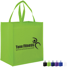 Gloss Laminated Large Designer Grocery Tote Bag with Poly Board Insert
