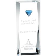 "Diamond Tower Crystal Award, 8-1/4"""