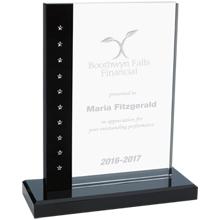 "Nightfall Swarovski® Crystal & Stone Award, 8-5/8"""