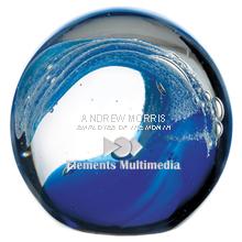 """Wave Art Glass Award, 3-1/2"""""""