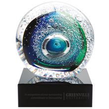 "Galaxy 24% Lead Crystal Award with Base, 3-3/4"""