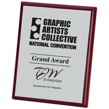 "Connection Rosewood & Aluminum Award Plaque, 8"" x 10"""