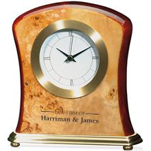 Burlwood Desk Clock