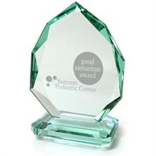 "Iroquois Pear Jade Crystal Award, 6-1/4"""