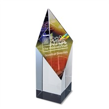 Prism Rainbow Glass Tower Award, Large, 5""