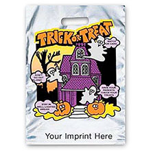 Reflective Halloween Bag - Silver, House Design - FAST!