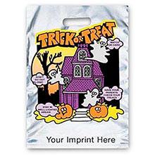 Reflective Halloween Bag - Silver, House Design - FAST!