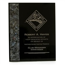 Dymondwood, Marble & Granite Plaque, 8 x 10