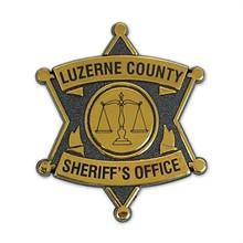 Junior 6 Point Sheriff Badge, Clip Backing, Custom