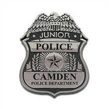 Junior Police Officer Badge, Clip Backing, Custom