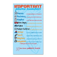Healthy Message Magnet™­, Important Phone Numbers