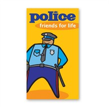 Stock Business Card Magnet, Police Friends for Life - Closeout, On Sale!
