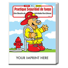 Practice Fire Safety Coloring Book - <i>Spanish Version</i>