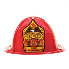 Stock Junior Firefighter Hat, Red