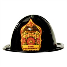 Stock Junior Firefighter Hat, Black