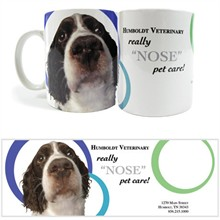 Dog Nose Design, Full Color Stoneware Mug, 11oz.