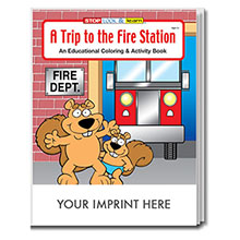 A Trip To The Fire Station Coloring & Activity Book