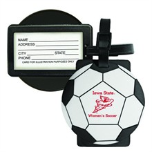 Sport Luggage Tag with Business Card Holder - Soccer Ball