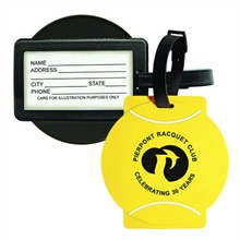 Sport Luggage Tag with Business Card Holder - Tennis Ball
