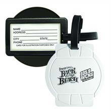 Sport Luggage Tag with Business Card Holder - Volleyball