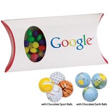 Chocolate Balls in a Custom Pillow Box, 7pcs.
