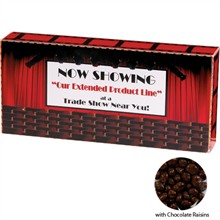 Chocolate Raisins Custom Movie Theater Candy Box, 3.7oz.