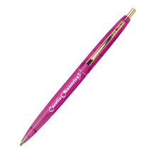 BIC® Clear Clics® Gold or Chrome Pen, Pink Barrel