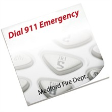 Dial 911 Emergency, 25 Sheet Sticky Pad