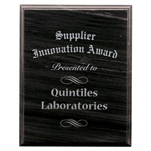 "Black Marble Award Plaque,  8"" x 10"""