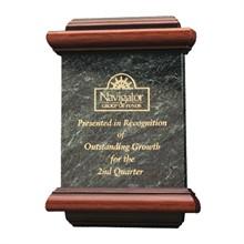 "Senator Marble Award Plaque, 9"" x 12"""
