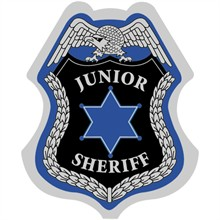 Junior Sheriff Badge, Stick On, Stock- Closeout, On Sale!