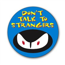 Don't Talk To Strangers Sticker Roll, Stock