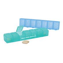Economy Weekly Strip Pill Box, 6-1/4""