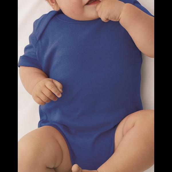 Rabbit Skins® Colors Ringspun Cotton Lap Shoulder Infant Creeper