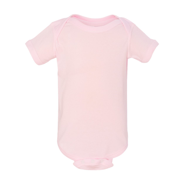 Rabbit Skins® Pastels Ringspun Cotton Lap Shoulder Infant Creeper