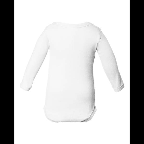 Rabbit Skins® Lap Shoulder Long Sleeve Infant Creeper, White