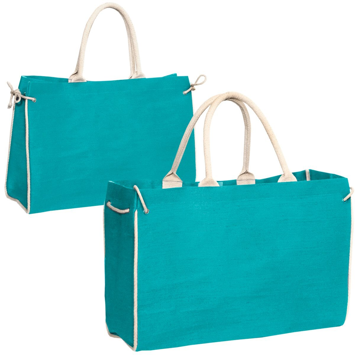 Palmetto Cotton Jute Tote