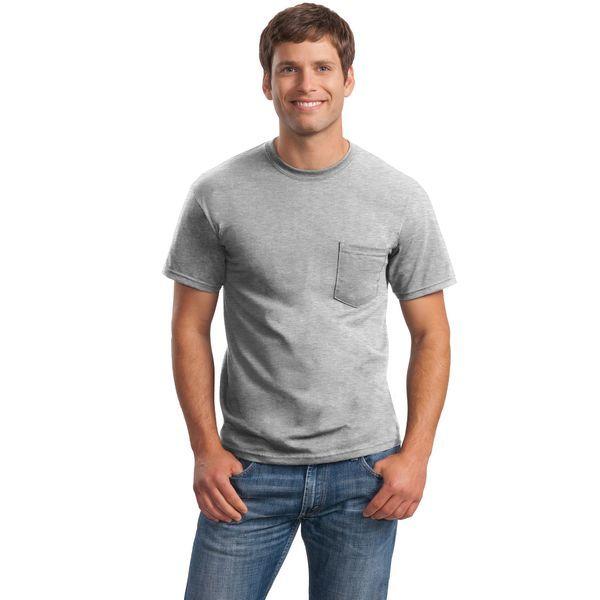 Gildan® Ultra Cotton™ 100% Cotton Men's Pocket Tee