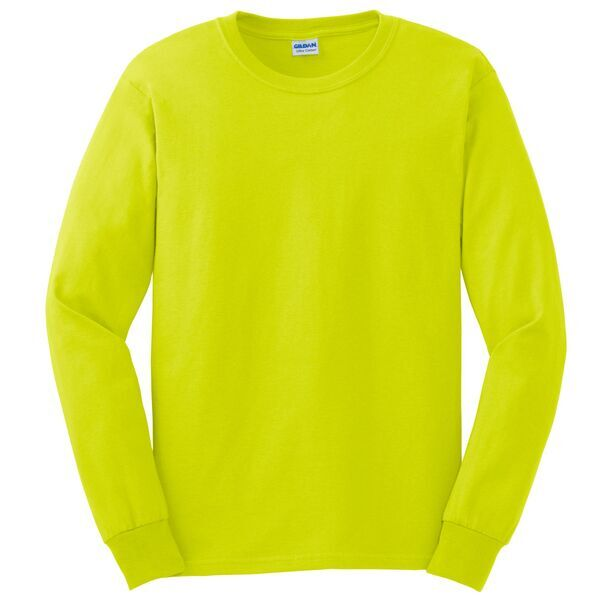 Gildan® Ultra Cotton™ 50/50 Men's Long Sleeve Tee, Safety Colors