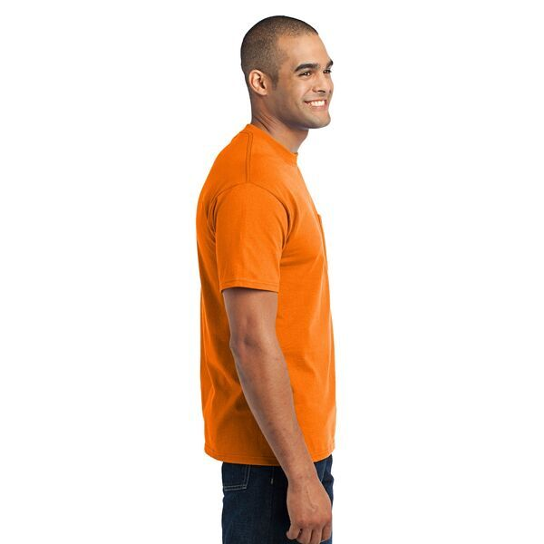 Port & Company® 50/50 Cotton/Poly Men's Pocket Tee, Safety Colors