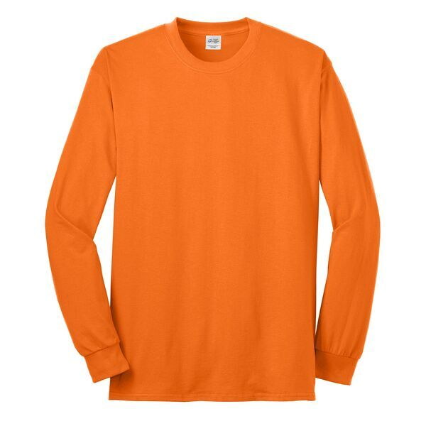Port & Company® 50/50 Cotton/Poly Men's Long Sleeve Tee, Safety Colors