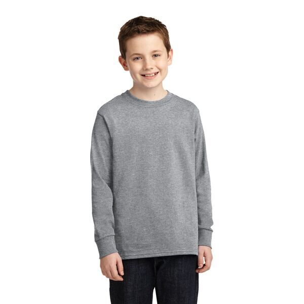 Port & Company® 100% Cotton Youth Long Sleeve Tee