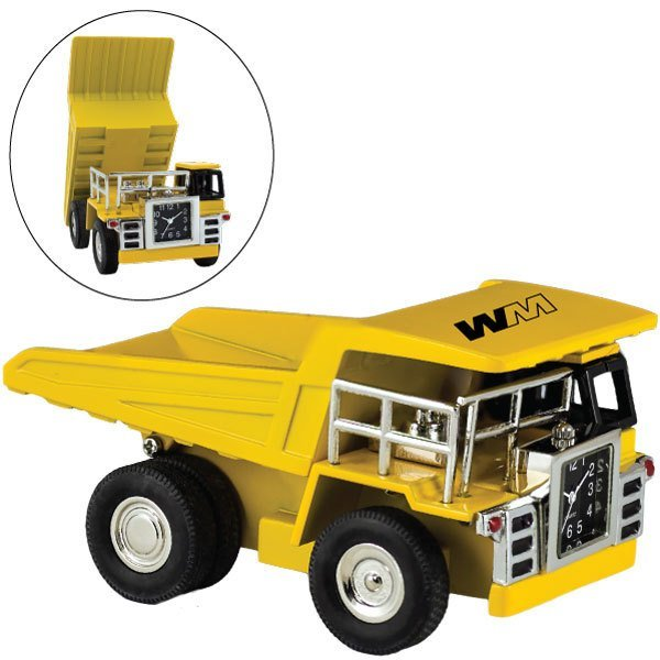 Yellow Dump Truck Clock