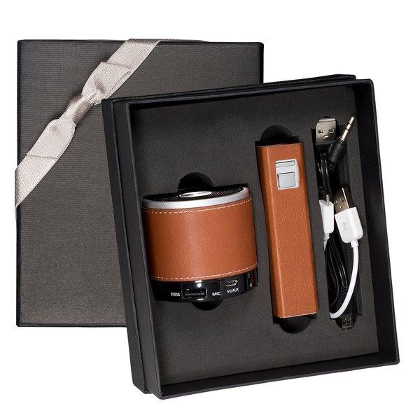 Tuscany™ Bluetooth Speaker & Executive Power Bank Gift Set, 2200mAh