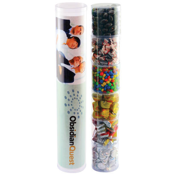 Six Tube Stack of Assorted Chocolate Candy