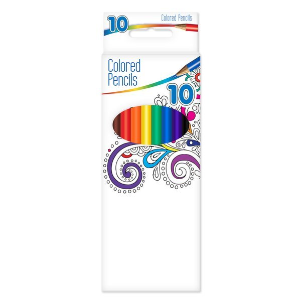 Color Therapy 10-Pack Pre-Sharpened Colored Pencils